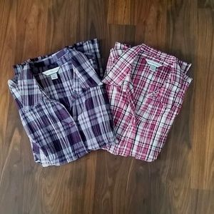 Bundle of 2 Ladies' Button-up Shirts, size XL